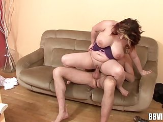 Horny German BBW gets fucked