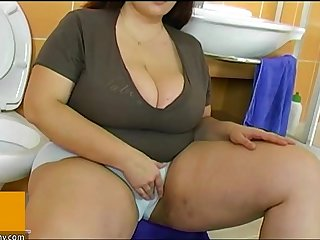 BBW fat mature fuck with young man