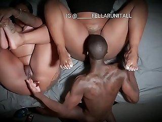 Fat booty ebony bbw threesome
