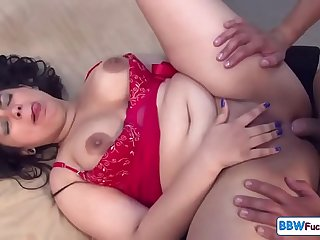 Spanish BBW Gets Deep Anal and Creampie