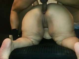 BBW asshole used as a cumdump