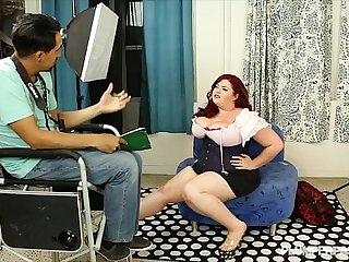 Busty BBW Model auditions for Calendar and Fucks Director