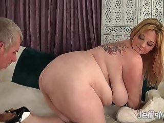 Big boobed BBW Kali Kala Lina riding a fat dick