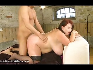 Busty British BBW Babe Meow 34JJ in Her First Hardcore Scene