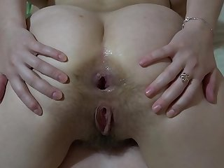 The girl licks her girlfriend pussy and masturbates her ass.