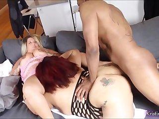 White & Latina BBW Lesbians Bred by BBC