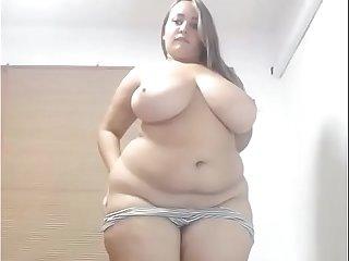 Thick bbw live strip tease so hot