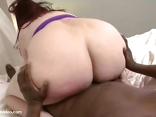 Redhead BBW Eliza Allure Fucks Her First Big Black Cock