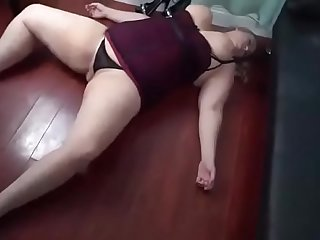bbw gets knocked out and fucked by her stepson