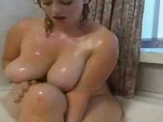 Fat BBW Ex Girlfriend taking a Hot shower nice Tits