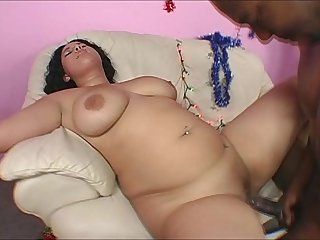 Busty Latina Chubby Gets Fucked By Black Santa Claus