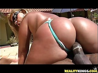 Brunna Bulovar gets her  amazing brazilian fat ass pounded like it deserves