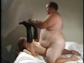 Obese slob fucks a pretty girl