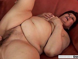 Fat granny fucks