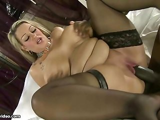 Dirty British Big Tit MILF Sucks Big Black Cock