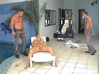 Pool Guys Fucks Fat Blonde