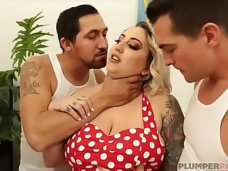 Plump Boss Kendra Lee Ryan Gets Gangbanged By 3 Huge Cocks