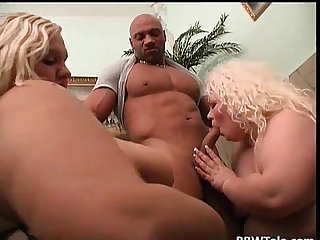 Two blonde fat cows fucks and sucks