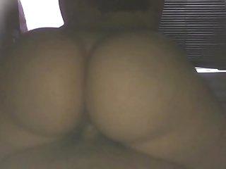 Fat ass girl creaming on big dick in slo-mo