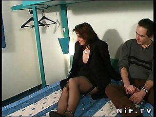 Chubby french slut anal fucked