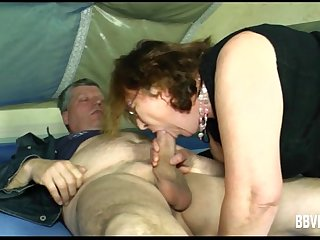 Slutty German milf suck a hard dick