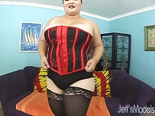 Asian Kelly Shibari gets her fat pussy filled with cock