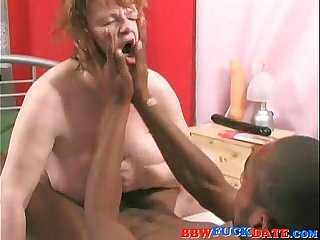 Mature BBW take big dildo and big black cock